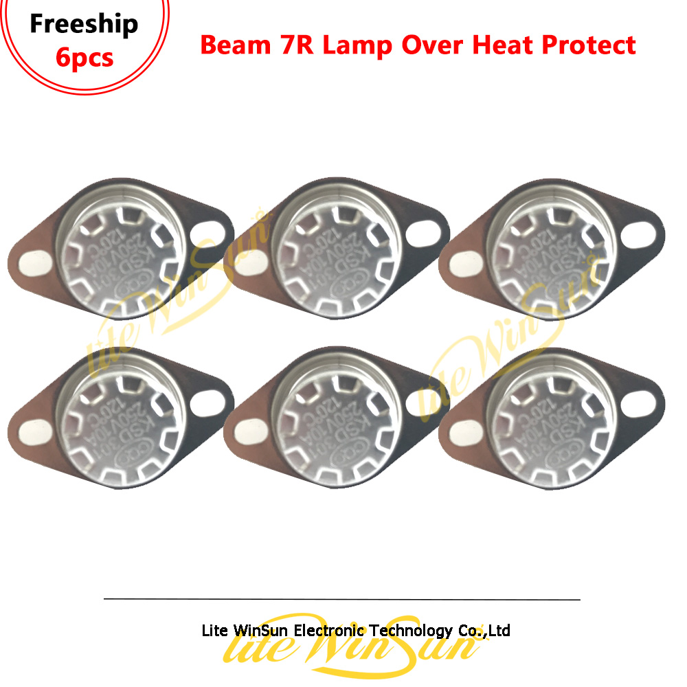 6pcs Beam 7R Moving Head Lighting Lamp Protect Socket Over-Heat Protect Temperature Sensor Ceramic Thermostat