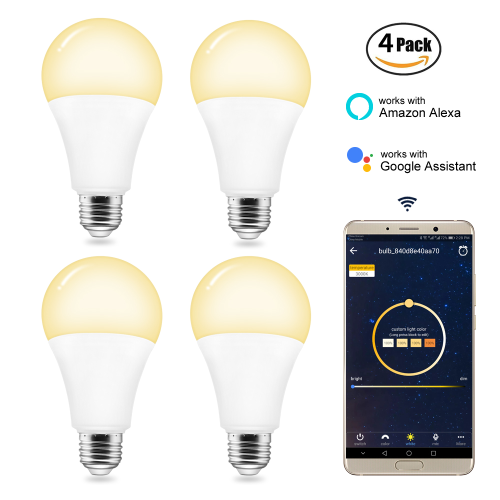 BB Speaker Led Bulbs Wifi Smart Bulb Led Bulb E27/220V/Dimmable Smart Lamp Alexa/Color/Led App Remote Control Warm White Light e27 7 92w 790 920lm 6000 7000k neutral white 132 led light bulb 220v