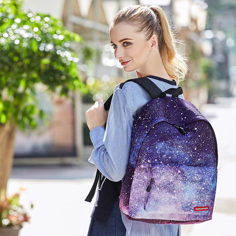 2018 New Multifunctional Headphone Backpack School Bags For Girls For Teenagers 3D Printing Starry Sky Bags With Pencil Case