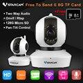 VStarcam C23S Беспроводной Безопасности IP Сетевая Камера Wi-Fi Pan Tilt Zoom PTZ HD 1080 P Full HD Видеонаблюдения Бесплатно 8 ГБ TF Карты