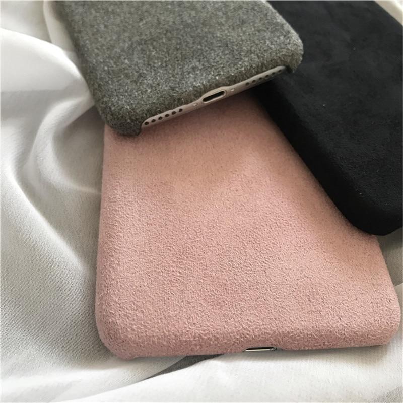 LUDI շքեղ Nubuck Suede կաշվե տուփ iphone 5 / 5s / SE / 6 - Բջջային հեռախոսի պարագաներ և պահեստամասեր - Լուսանկար 6
