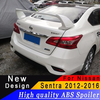 For Nissan Sentra 2012-2016 high quality ABS material spoiler Sentra rear trunk spoiler Primer or black or white rear wing carbon fiber rear trunk wings m4 spoiler for bmw 4 series f36 420i 428i 435i gran coupe 4 door 2013 gloss black spoiler wing