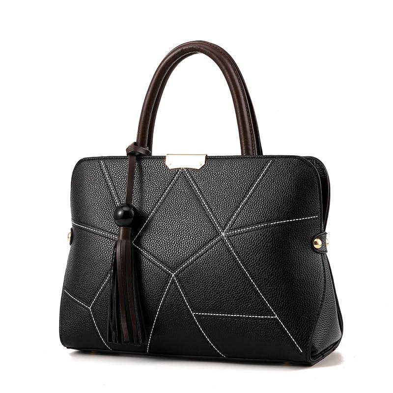 2017 Brand Design Female Bag Lady Bags Fashion Women Handbag Casual Shoulder Handbag Tassel Tote Embossed