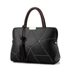 2017 marke Design Weiblichen Beutel Dame Taschen Mode Frauen Handtasche Lässig Schulter Handtasche Quaste Tote Geprägte pu-leder tasche