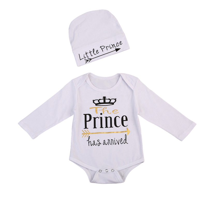 Newborn Toddler Baby Boy Girl Clothes Cotton Long Sleeve Letter Romper Jumpsuit Clothes Outfits 0-24M