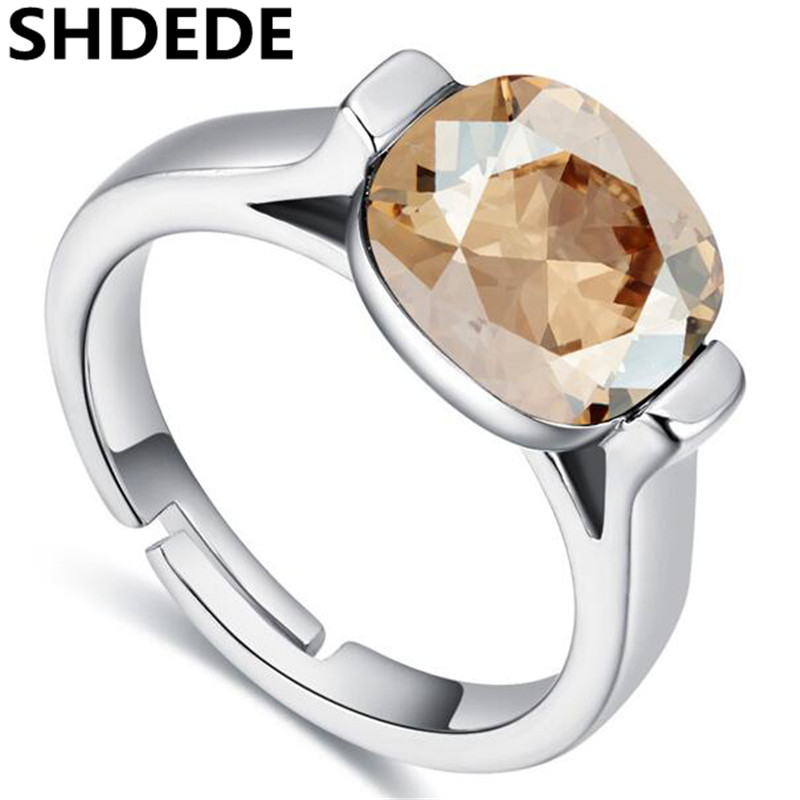 SHDEDE Top Quality Nobleness Crystal Ring Wholesale Fashion Jewelry Crystal from Austrian Engagement Rings For Women -24817