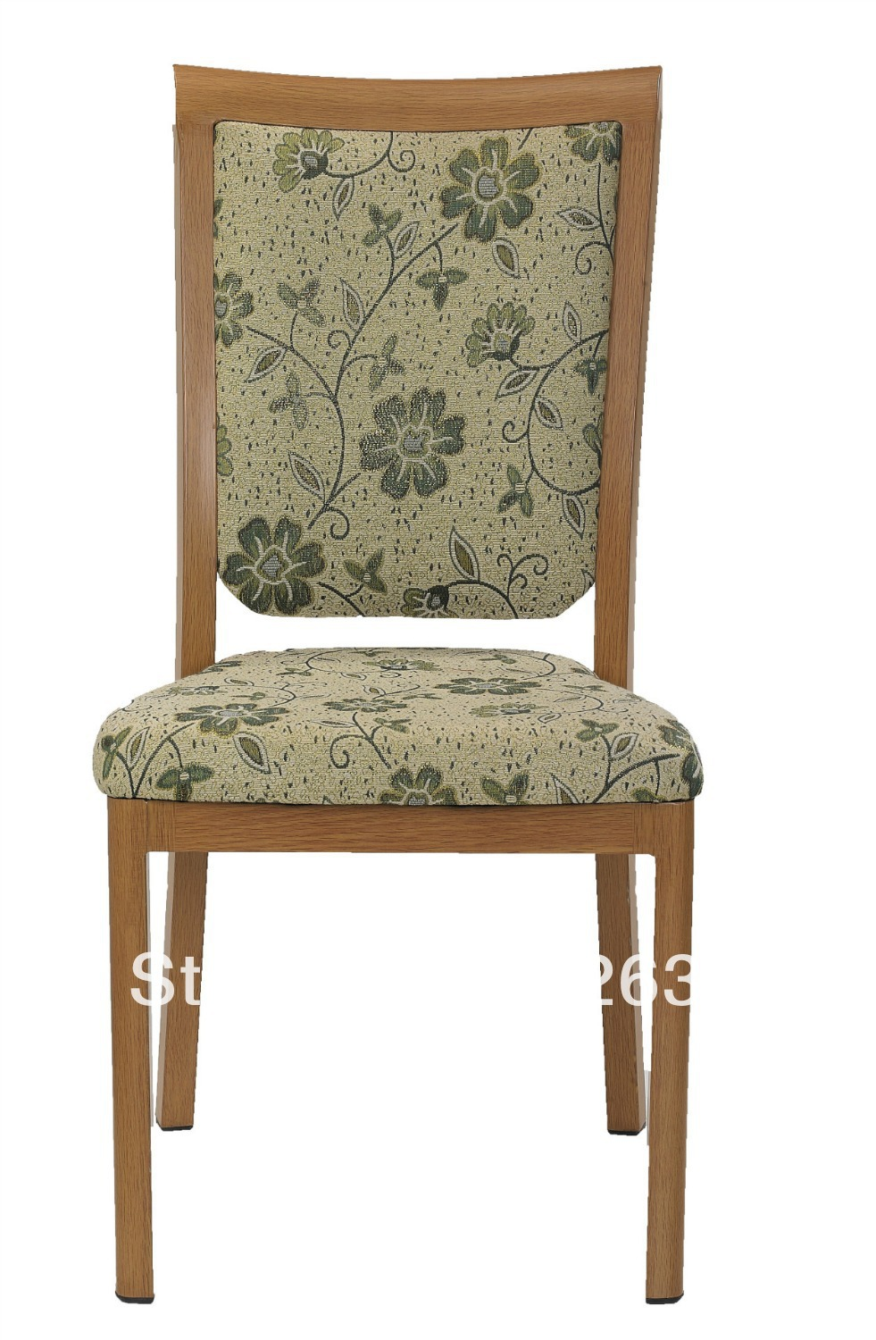 Stackable Wood Grain Aluminum Banquet Chair,heavy Duty Fabric With High Rub Resistance,comfortable