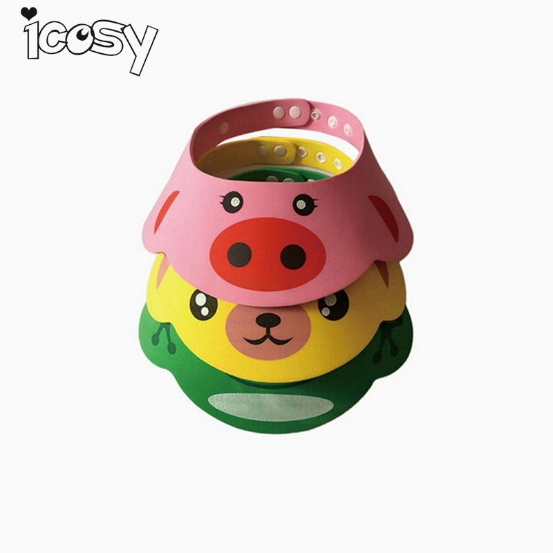 Adjustable Kids Shower Cap Children Adjust Shampoo Shower Bathing Bath Protect Soft Cap Baby Shower Accessory For Bathroom A6D15 ...