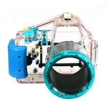 مقاوم للماء تحت الماء الإسكان حاوية الكاميرا الحال بالنسبة لسوني Nex 3 nex 3 عدسة 18 55 مللي متر
