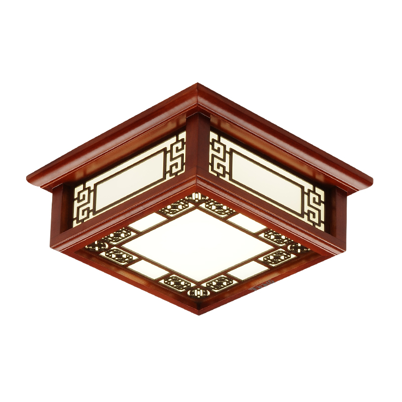 Chinese solid wood lamp Balcony ceiling light hallway hallway hallway lamp small ceiling lamp Hall ceiling lamp wl4241534