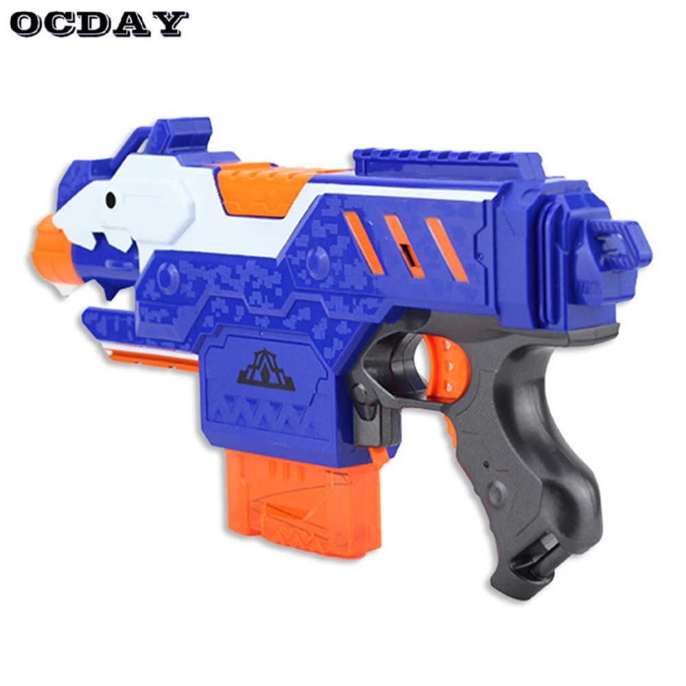 OCDAY Electric Plastic Sniper Rifle Toys Soft Bullet Bursts Super Far Range Outdoors Toy Xmas Gift