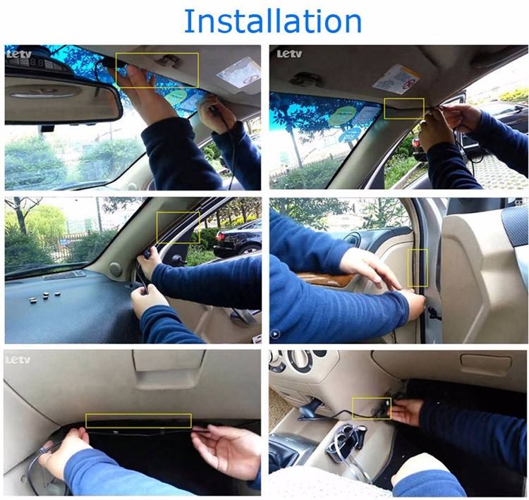 FHD 1080P car camera 4.3-inch Mirror Rearview screen dual lens Car DVR Night Vision rearview mirror auto dvrs Stop Recording 33
