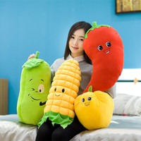 2016 New One Piece Super Cute PP Cotton Stuffed Plush Toy Fruit&Vegetable Series Sleeping Cushion Pillows Birthday Gift 16 Style