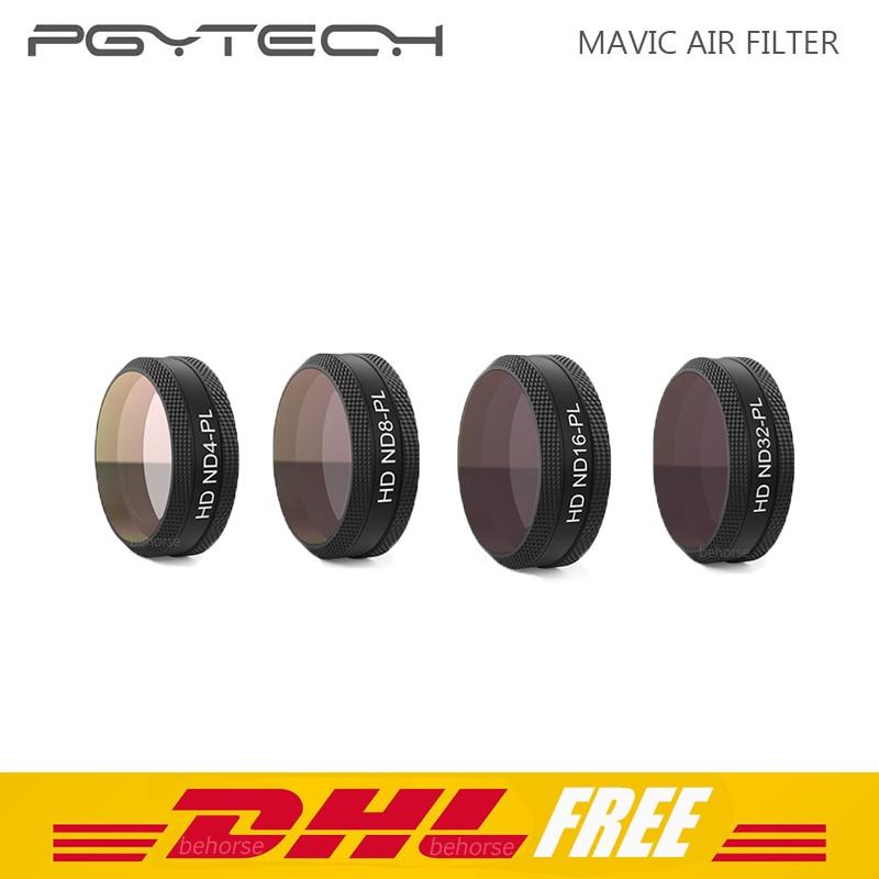 4 Pcs/Set PGYTECH Filter DJI Mavic Air Filter ND4-PL/ND8-PL/ND16-PL/ND32-PL for DJI Mavic Air Filter Accessories pgytech mavic air lens filter set nd pl cpl uv filter for dji mavic air nd4 nd8 nd16 nd33 nd64 filter kit accessories