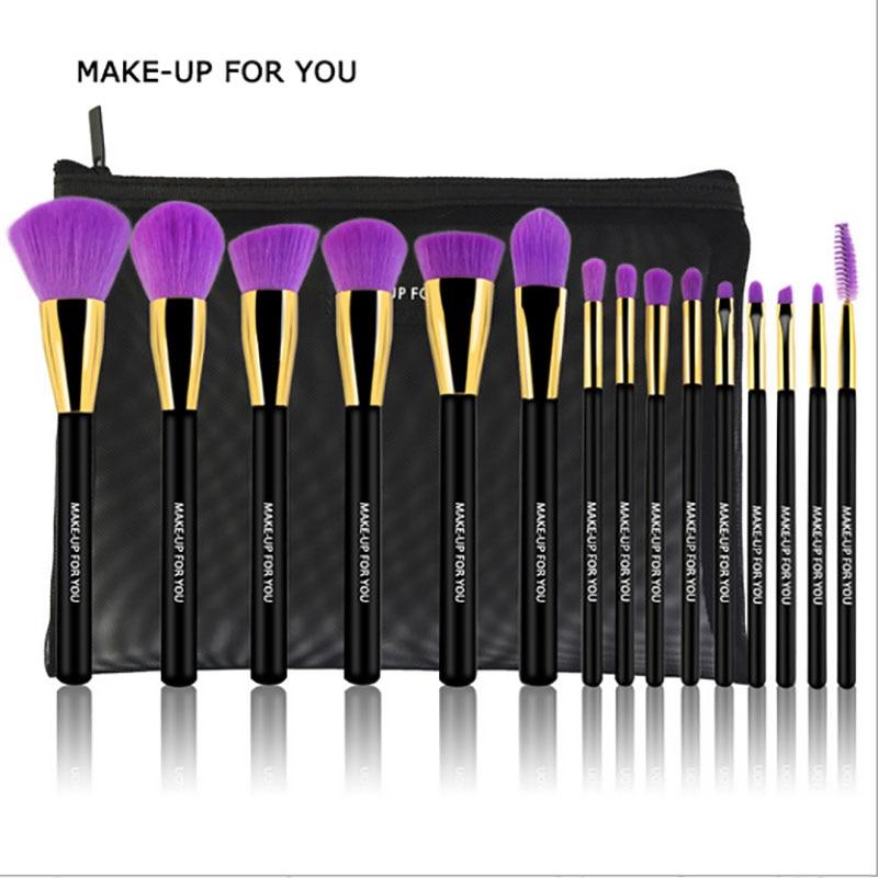 все цены на 15Pcs Eye Shadow Foundation Eyebrow Eyeliner Eyelash Lip Brush Makeup Brushes Cosmetic Tool Make Up Eye Brush Set maquiagem онлайн