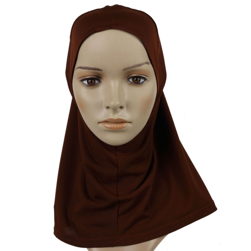 цены на Cosplay Pullover Solid Hair Accessories Women Under Scarf Hat Cap Bone Bonnet Islamic Hijab Head Wear Band Neck Chest Cover New в интернет-магазинах