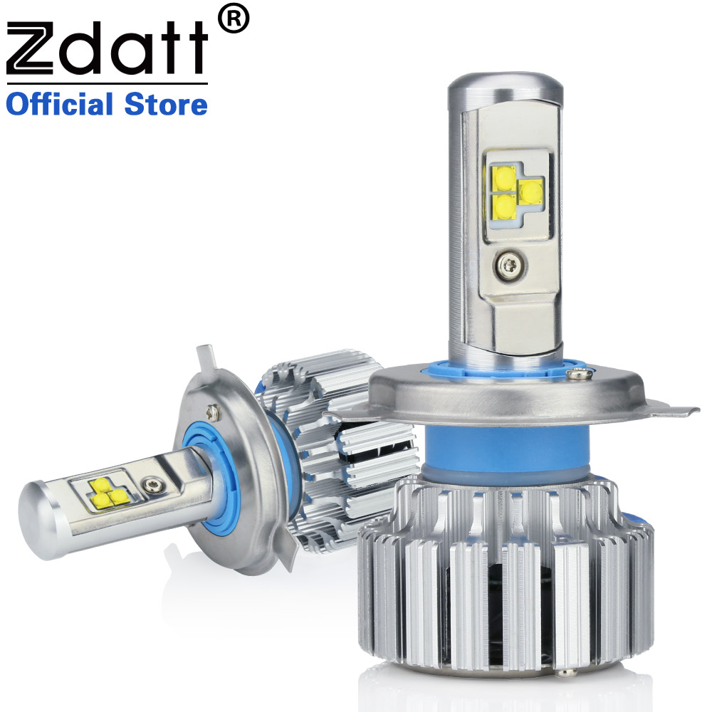 Clearance Sale Zdatt 2Pcs Super Bright H4 Led Bulb Canbus 80W 8000Lm Auto Headlights H1 H7 H8 H9 H11 Car Led Light 12V Fog Lamp new super bright h7 5630 smd 33 led 12v white auto car fog driving light lamp bulb car accessories