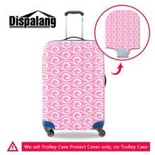 Dispalang stilvolle blume drucke gepäck schutzhülle abdeckungen damenmode wasserdichte elastische staub regen trolley koffer abdeckung