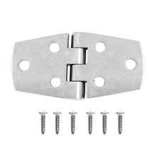 Strong Boat Door Hinge Strap with Screws 316 Stainless Steel Boat Accessories for Marine Boat Cabinet Deck Silver