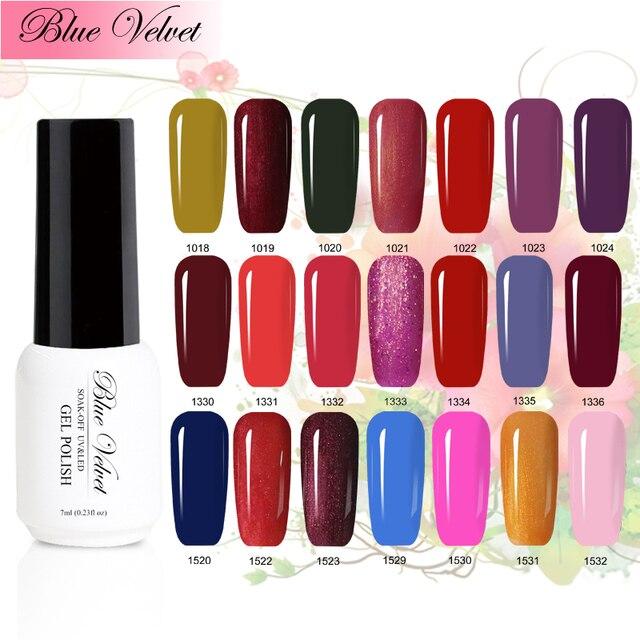 Blue Velvet Nail Art Design Manicure 7ml Soak Off Gel Polish Led Uv