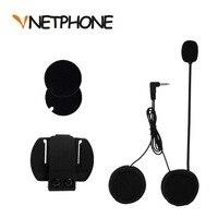 3 5mm Jack Microphone Speaker Headset And Helmet Intercom Clip For Motorcycle Bluetooth Device Vnetphone V4