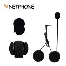 2019 3.5mm Kablolu Mikrofon & Evrensel Kask Kelepçe için Motosiklet Bluetooth Dahili Telefonlar VNETPHONE V4 V6