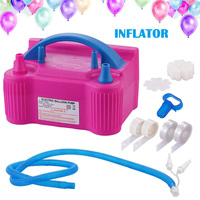 Double Electric Air Balloon Pump Portable Inflator 600W for Home Party Wedding HG99
