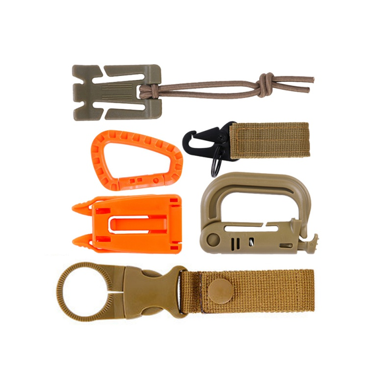 6 Pieces Portable Water Bottle Ring Holder Tactical Nylon Webbing Strap Holder Water Bottle Holder Clip for Backpack Belt Outdoor Camping