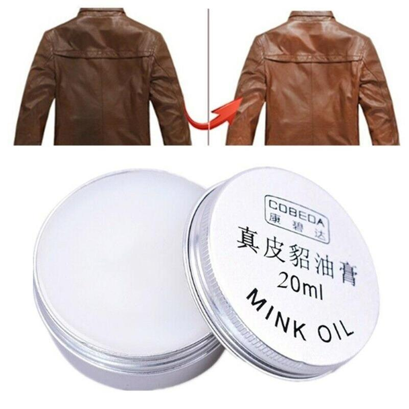 20ML Shoes Care Cream Oyster Cream Yellow Wolf Cream Leather Goods Leather Shoes Care Cream Shoe Polish Oil