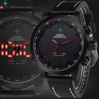 LED Mens Watches Top Brand Luxury Analog Digital Sport Watch Leather Quartz Military Wristwatch Reloj Digital