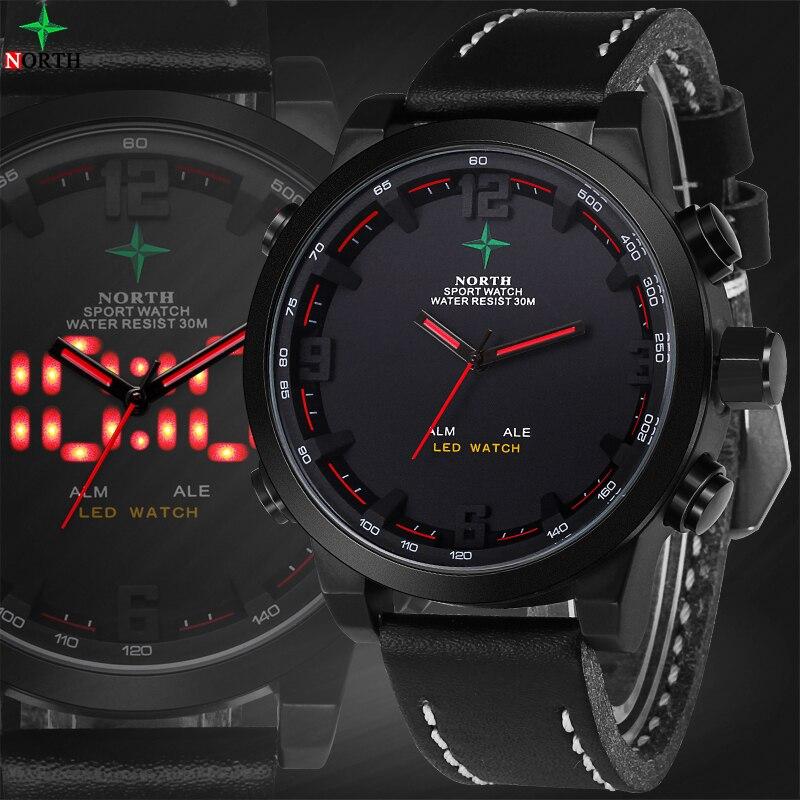Reloj Hombre Sport Herren Uhren Top Brand Luxus Digital-Uhr Wasserdicht Quarz-Uhr LED Armbanduhr Digitale Uhr Männer sport