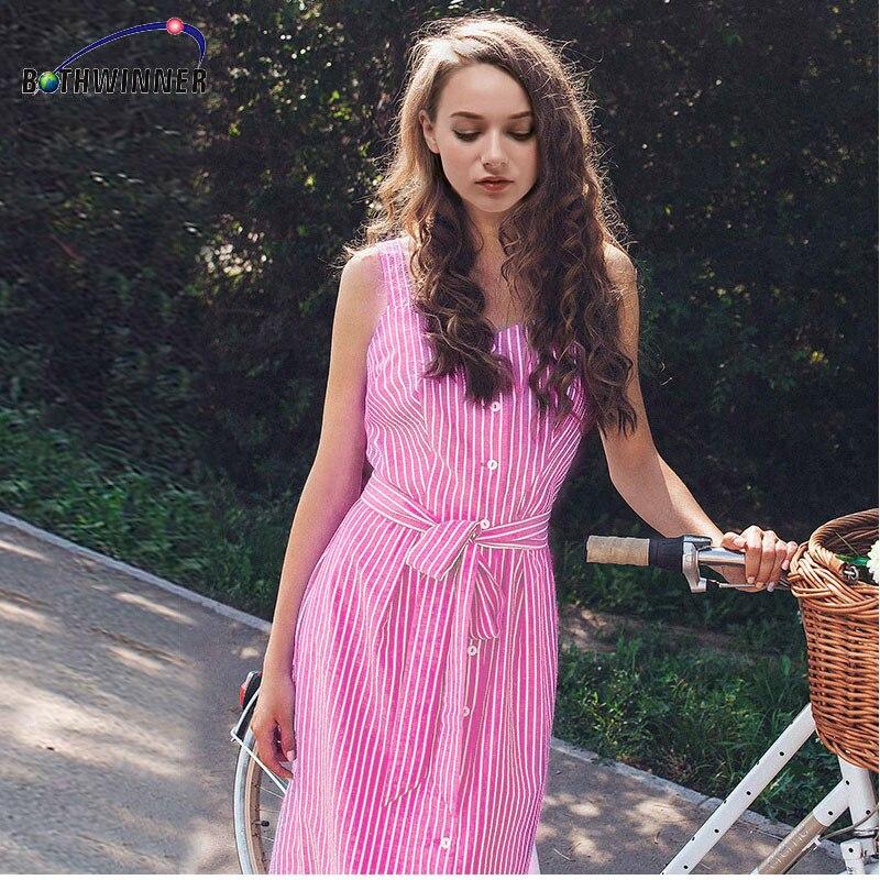 Bothwinner vestido rayado azul arco vendaje verano Sexy vestidos de ...