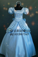Free Shipping Fashion Womens Ladies Luxury Cinderella Princess Costume Adult Cinderella Costume Fairy Tale Cosplay For