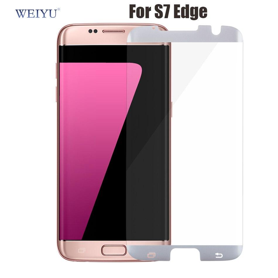 imágenes para Weiyu 30 unids/lote dhl 9 h no 3d de la cubierta completa para samsung galaxy s7 edge caso s7edge protector de pantalla de cristal templado de cine amigable