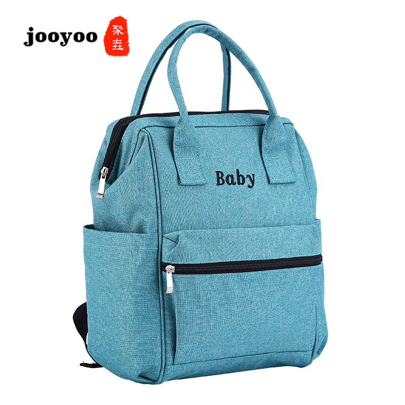 New Waterproof Fabric Multi-function Large-capacity Shoulder Mummy Bag Out Maternal and Child Package Fashion Mother Bags jooyooNew Waterproof Fabric Multi-function Large-capacity Shoulder Mummy Bag Out Maternal and Child Package Fashion Mother Bags jooyoo