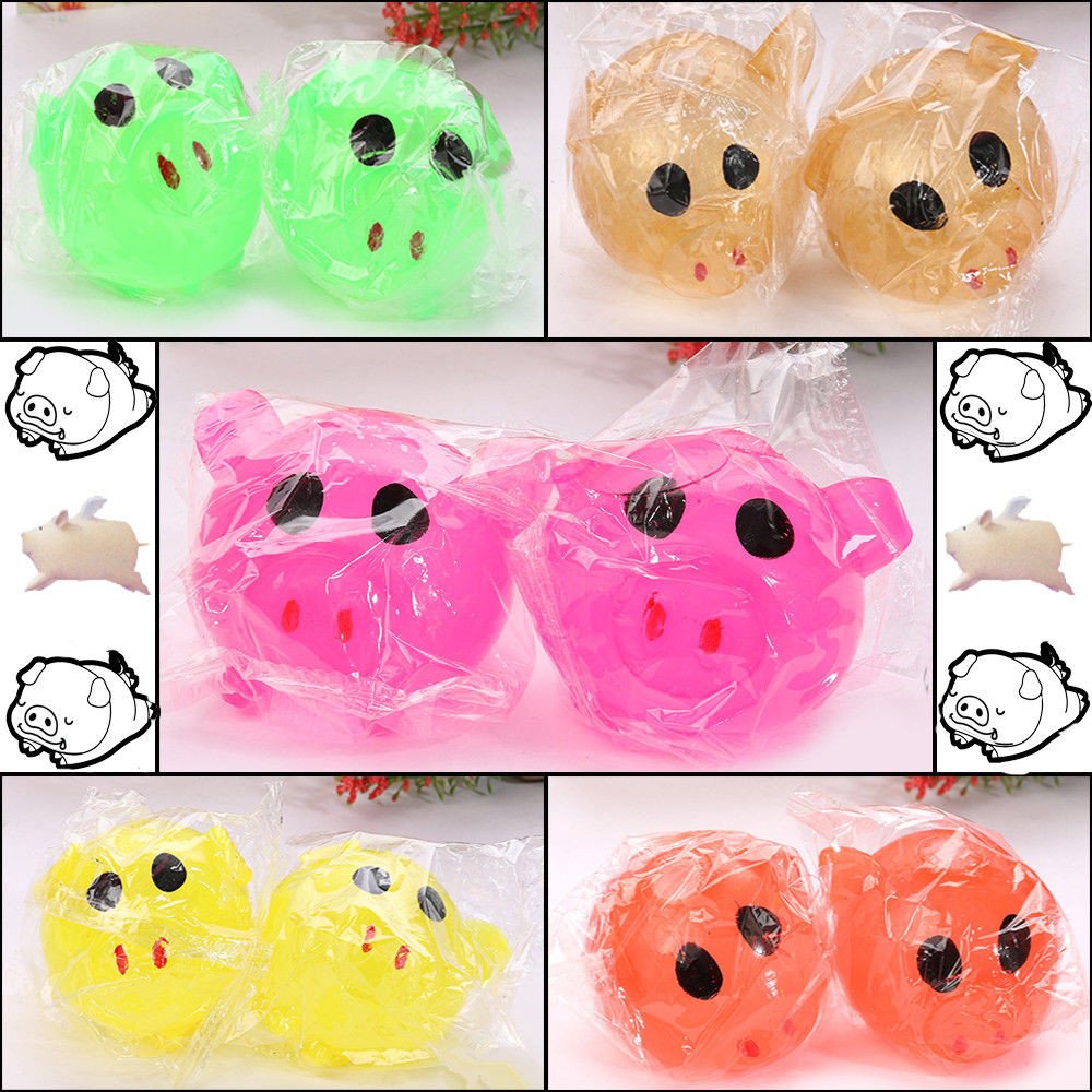 ONTO-MATO 1Pc Anti-stress Decompression Splat Ball Vent Toy Smash Various Styles Pig Toys  Funny Gadgets Anti Stress Toys#40