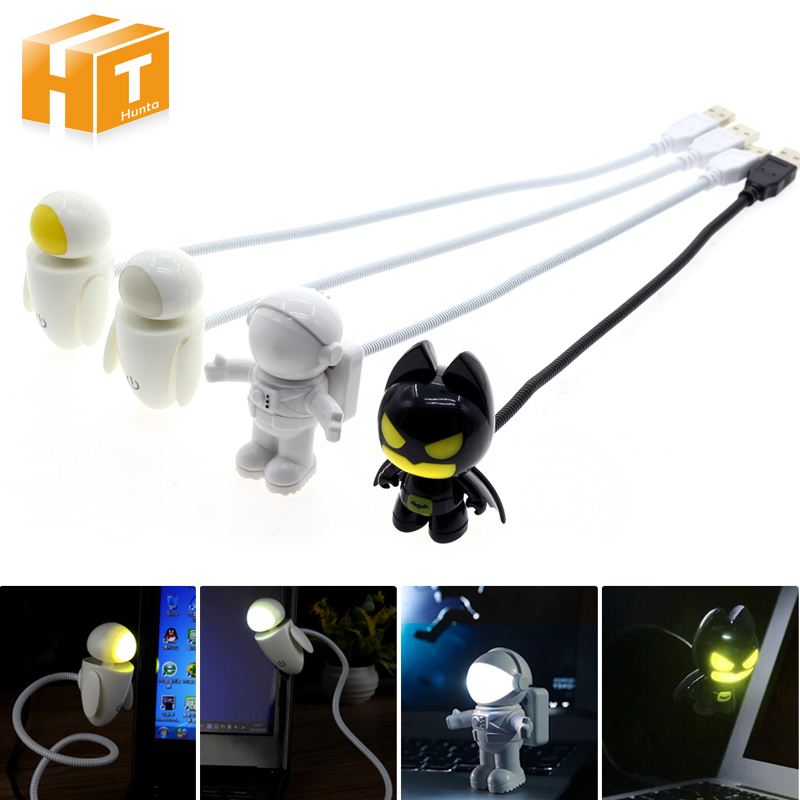 USB Night Light Cartoon DC 5V The Dark Knight Batman/Spaceman/EVE White/EVE Yellow Notebook Power Supply Flexible Lamp