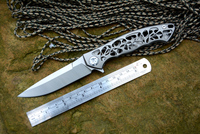 Y START Dmitry Sinkevich Flipper Folding Knife D2 Blade TC4 Titanium Camping Hunting Pocket Fruit