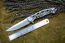 Y-START couteau Dmitry Sinkevich flipper couteau camping chasse couteaux de poche EDC outils D2 lame TC4 Titanium poignée bateau libre