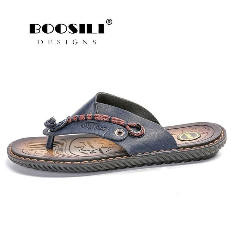 Men's Shoes Symbol Of The Brand Erkek Terlik Hot Sale Boosili 2019 Cool Flip Flops Men Outdoor Bath Slippers High Quality Male Stripe Flat Non-slip Footwear Quality First Shoes