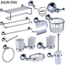 Chrome набор оборудования для ванны латунь держатель для туалетной щетки WC рулон бумажных полотенец полки мыльница для душа настенные крючки фен Держатели