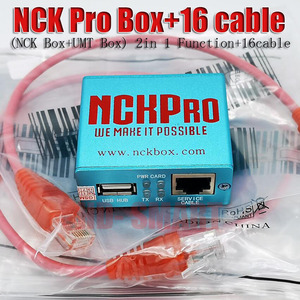Image 1 - 2019 новейшая оригинальная NCK Pro box NCK Pro 2 box (поддержка NCK + UMT 2 в 1) для Huawei + 16 кабелей