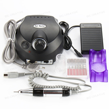 Pro 110/220V Black Electric File Buffer Bits Machine Set Electric Nail Art Drill Manicure Pedicure Nails Tool Kit