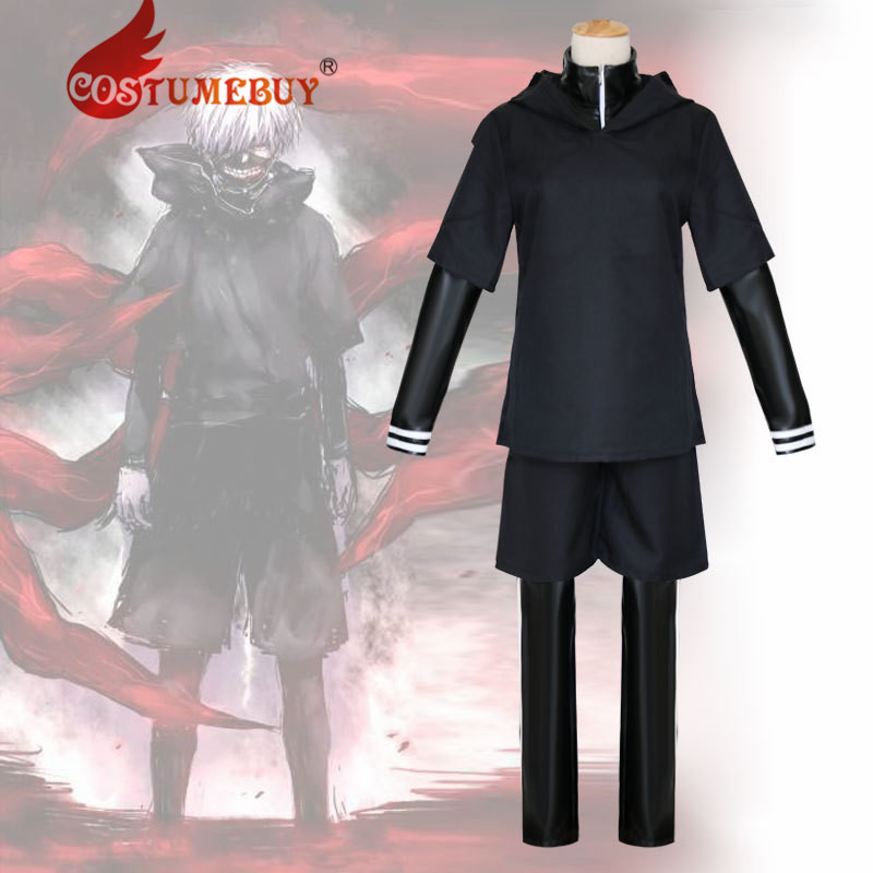 CostmeBuy Anime Tokyo Ghoul Kaneki Ken Cosplay Costume Adult Mens Fancy Halloween Suit L920
