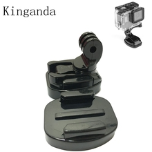 Action Camera Accessories Holder Base Mount with Nut Quick Release Tripod Bracket Base Amount For Gopro Hero 5/4/3 Kit hobbyinrc for gopro hero 5 4 3 action sports camera 360 degree mount bracket holder tripod support 1 4 base for dji mavic pro