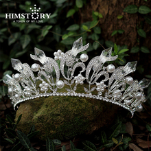 Gorgeous Baroque Crystal Crown rhinestone tiara bridal wedding hair accessories Silver Plated Hair Jewelry For Women Partys