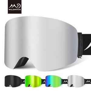 Image 1 - купон  65,78 руб Wildmtain Горнолыжные Очки с Антизапотевающее внутреннее покрытие и 100% от ультрафиолетового A B C излучения до 400нм сноуборда лыжные очки