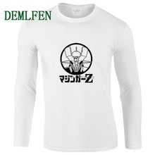 New Anime Mazinger Z T Shirt Men Casual Cotton Long Sleeve Shirt Funny  Cartoon T-shirt Hip Hop Tees Tops Harajuku Streetwear 263695b13304