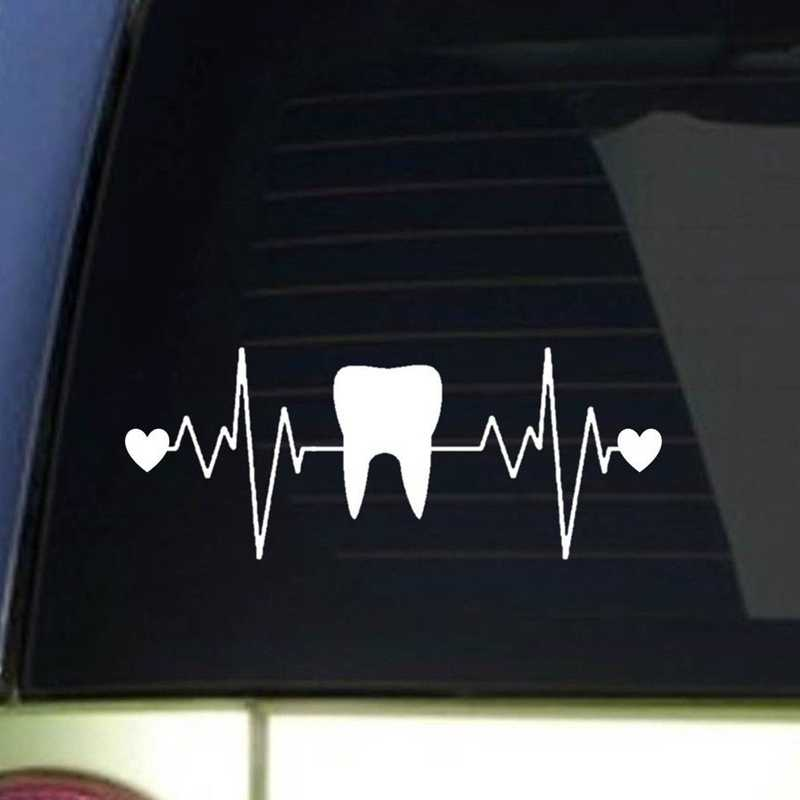 Monogram Tooth Decal Dental Hygienist Car Window Decal Laptop Decal Tooth Bow Dental Assistant Rdh Yet Emergency Dentist Monogram Stickers Dental