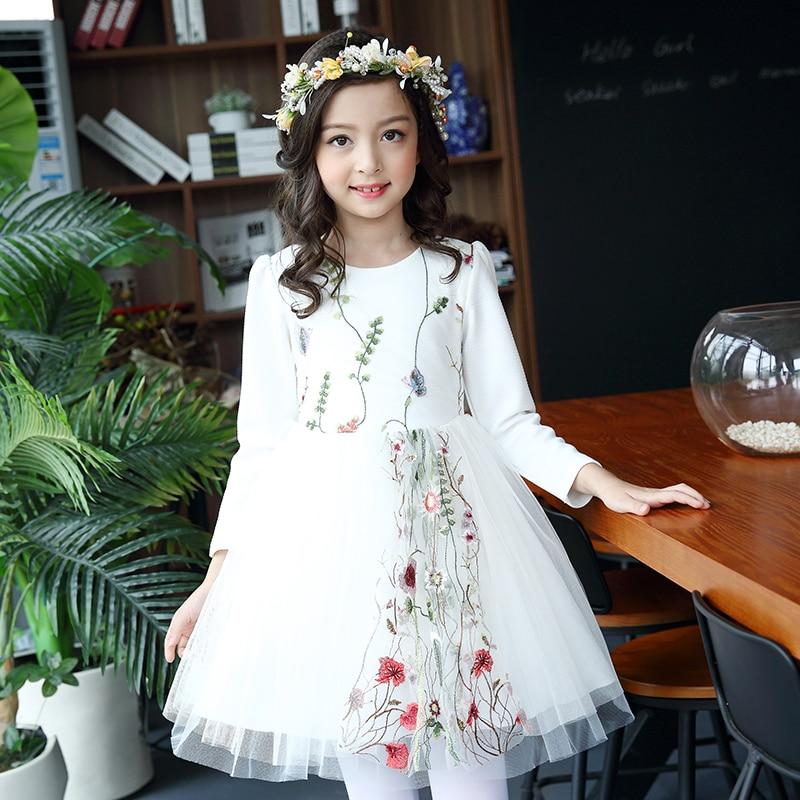 Kids white Princess Dress 2017 New sweet Baby Girls Dresses Ball Gown Toddler Girl Clothing Flower Children Clothes 2 6 8 10 11Y платье для девочек unbrand baby v 2 6 kids dress